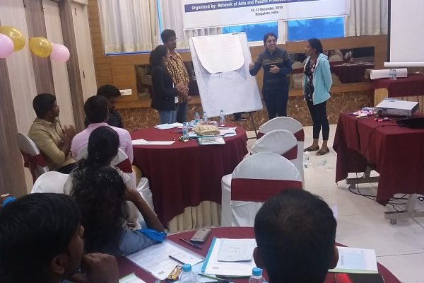 Group presentation by youth on leadership