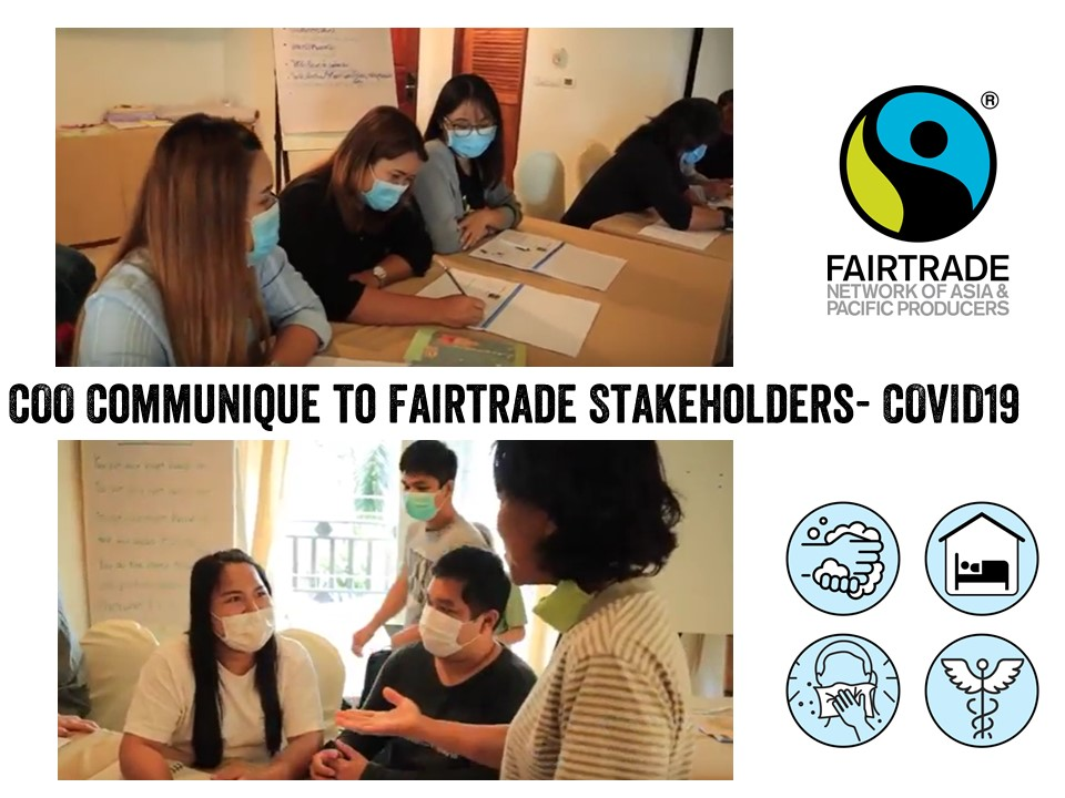 COO Communique to Fairtrade Stakeholders- COVID19 Crisis